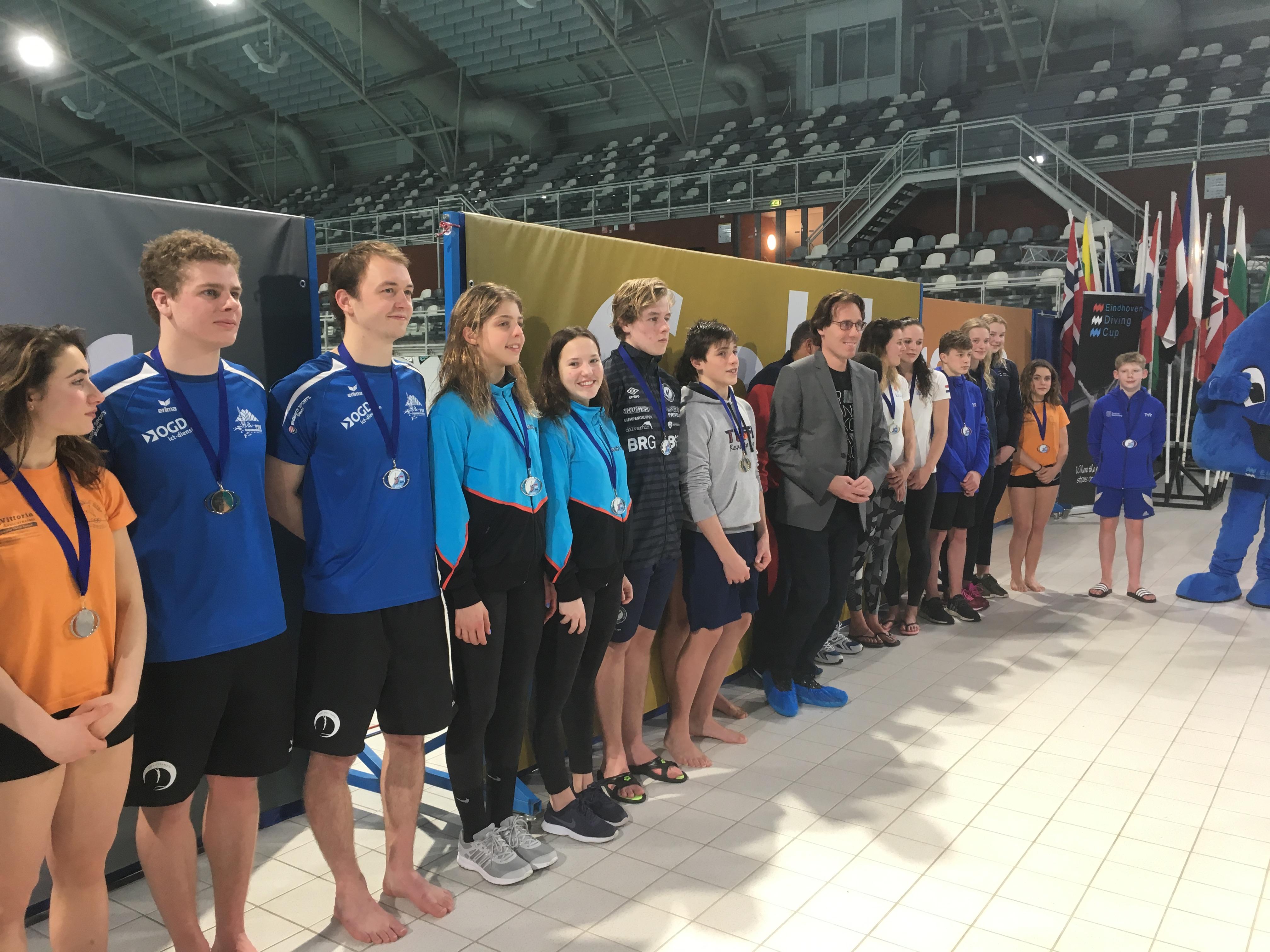 Medaille doda 31-1 Girls B 3m, Boys B 1m, Synchro Women 3m, Synchro Men 3m, Boys A Platform